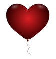 isolated hearth balloon vector image