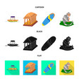 isolated object of travel and tourism symbol set vector image