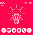 light bulb - new ideas line icon vector image vector image