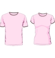 Male and female t-shirts vector image