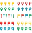 map pins gradient vector image vector image