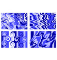 marble texture blue paint splash colorful fluid vector image