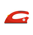 modern iron icon flat style vector image