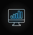 monitor with business graph creative line vector image vector image