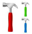 Multicolored hammers vector image vector image