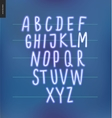 Neon alphabet 3 vector image