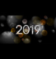 new year 2019 abstract dark bokeh background vector image vector image