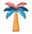 palm icon cartoon style vector image vector image