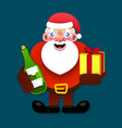 paper santa claus merry christmas and new year vector image vector image