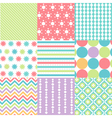 Patterns with fabric texture vector image