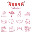 Red icon of valentine day collection vector image vector image
