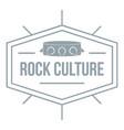 rock culture logo simple gray style vector image vector image