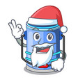 santa bucket cylinder water in shape character vector image vector image