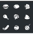set burger components vector image