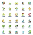 set of abstract letter business logo icons vector image