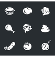 Set of Burger components vector image