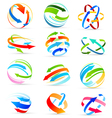 Set of colored arrows icons vector image
