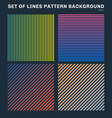 set of colorful lines pattern background vector image vector image
