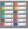 set of infographic templates vector image