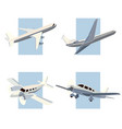 set simple icon aircrafts vector image