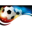 Soccer ball with lights and sparks vector image vector image