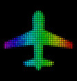 spectral colored dot airplane icon vector image vector image