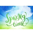 Spring time over sky background vector image vector image