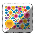 sticker colorful pattern formed by dialogue social vector image vector image