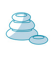 stones pile spa icon vector image