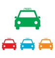 Taxi sign Colorfull set vector image vector image