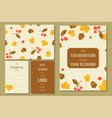 thanksgiving greeting card template and seamless p vector image