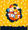 trick or treat and candy corn vector image vector image