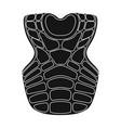 vest baseball baseball single icon in black style vector image vector image