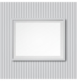 White striped wall with frame vector image vector image