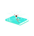 young woman drowned in the smartphone vector image