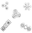spinners of different shapes vector image