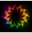 Abstract rainbow neon spirals cosmic frame vector image