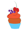 a berry cake or color vector image vector image
