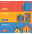 a flat design the house vector image