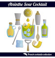 absinsour cocktail set isolated elements vector image vector image