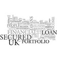 are uk secured loans a part of your financial vector image vector image