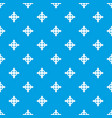 arrows target pattern seamless blue vector image vector image