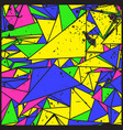 artistic decorative geometric grunge background vector image