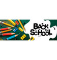 back to school sale horizontal banner first day vector image vector image