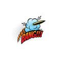 bang sound blast explosion cartoon comic book vector image