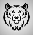Bear Face Tattoo vector image vector image