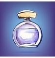 beautiful perfume bottle vector image vector image