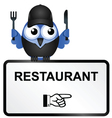 Bird restaurant sign vector | Price: 1 Credit (USD $1)