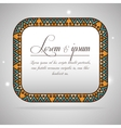 bohemian background design vector image vector image