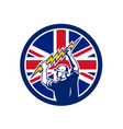 british electrician union jack flag icon vector image vector image
